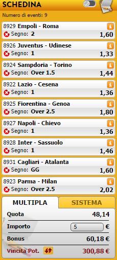 Pronostici Serie A Giocatavincente